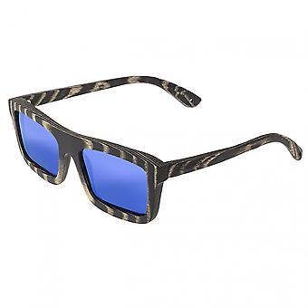 Spectrum Ward Wood Polarized Sunglasses - Black Stripe/Blue