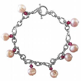 Acqua fresca stupenda Rosaline perle Swarovski & Crystals