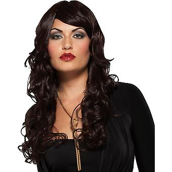 Supermodel Dark Brown Wig For Adults