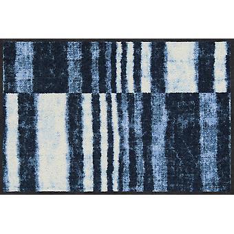 Salon lion denim stripes of washable mats floor mat runner