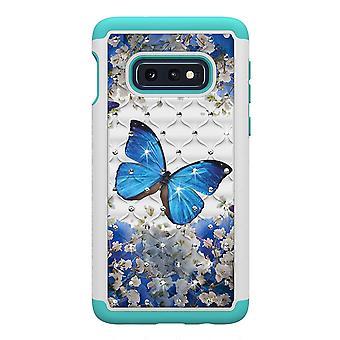 Samsung Galaxy S10e TPU-Shell Armor Extra-durable-azul mariposa