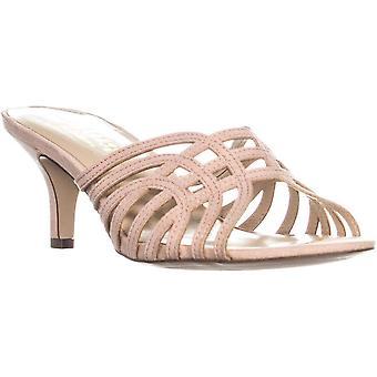 Callisto Womens Roza Leather Peep Toe Casual Slide Sandals
