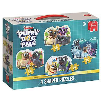 Jumbo Puppy Dog Pals 4 in 1 Shaped Puzzles