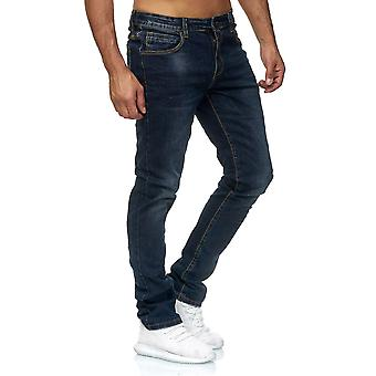 Jeans Pantalon denim pantalon classique Slim utilisé lavé régulier taille fonds pour hommes