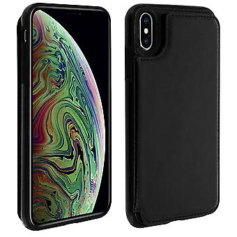 Apple iPhone XS Max Shockproof Case, Card Holder Wallet, Forcell, Black