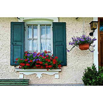 Tapete Wandbild Bayerisches Fenster