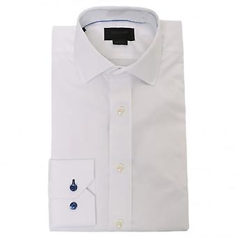 Duchamp of London Iconic Twill Shirt, White