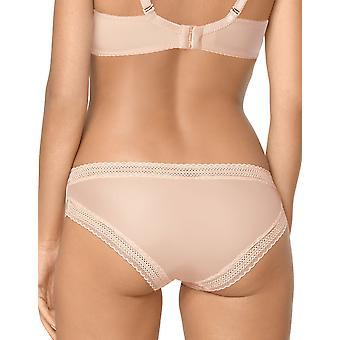 Selma beige brodé culotte culotte pleine de nipplex femmes