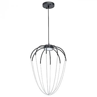 Lampe suspension Chrome industrielle