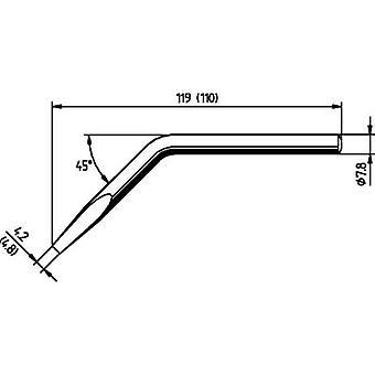 Ersa 082JD Soldering tip Chisel-shaped, angled, ERSADUR Tip size 4.8 mm Content 1 pc(s)