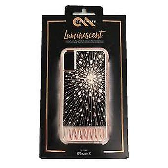 Case-Mate Bundle Screen Protector and Luminescent Case for iPhone Xs / X - Rose Gold