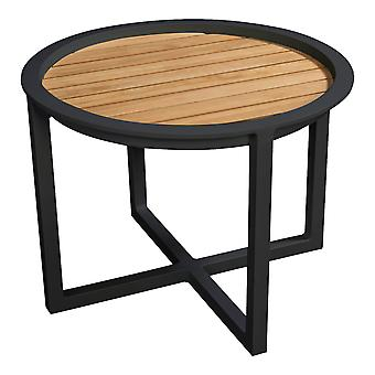 Plage7 - France QUEENS LOUNGE TABLE Alum/TEAK 60CM  Noir ensembles de salon