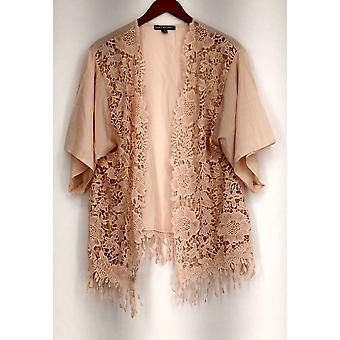 Kate & Mallory Open Shrug w/ Lace Front & Hem Pink A415376