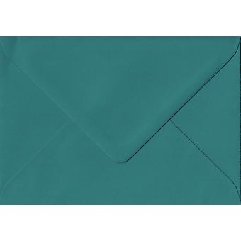 Teal Green Gummed C7/A7 Coloured Green Envelopes. 135gsm GF Smith Colorplan Paper. 82mm x 113mm. Banker Style Envelope.