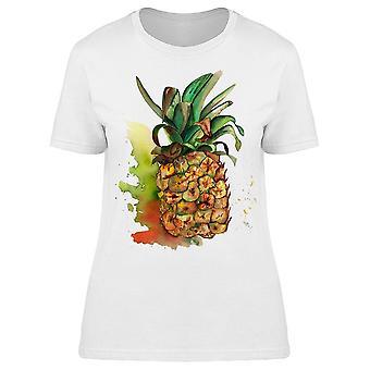 Pineapple Painting Art Tee Women's -Image by Shutterstock