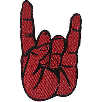 Patch - Music Themed - Red Metal Fingers Icon-On p-dsx-4871