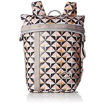Oilily Lori Geometrical Backpack Mvf - Women's Pink Backpack Bags (Rose) 13x26x22cm (B x H T)