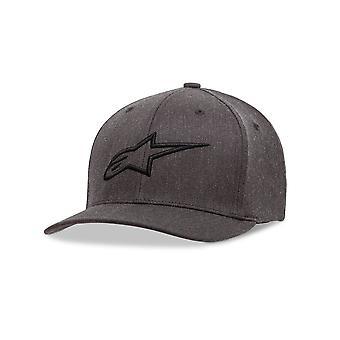 Alpinestars Мужская кривой Flexfit Cap ~ нестареющий уголь/черный