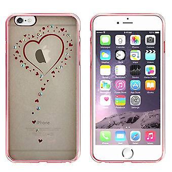 Bagside Cover klar kofanger look til Apple iPhone 5/5S/SE hjerte rosa guld