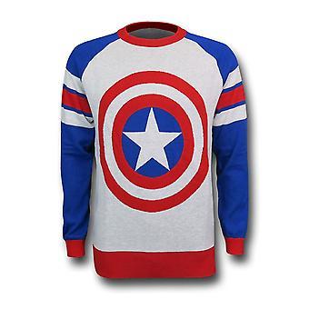 Kapteeni Amerikka Shield Intarsia miesten ' s pusero