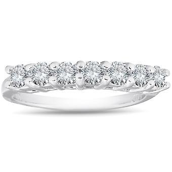 950 Platinum 5/8 Carat Diamond Solitaire Prong Women's Wedding Ring