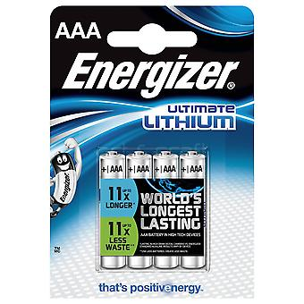 Energizer Ultimate Lithium AAA / LR60 (4-Pack)