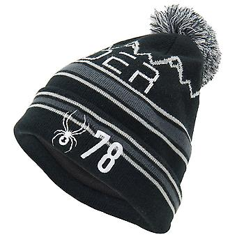 Spyder ICEBOX Men's Knit Bommel Winter Ski Hat Noir
