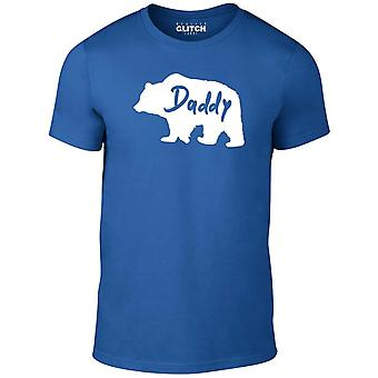 Reality glitch daddy bear mens t-shirt