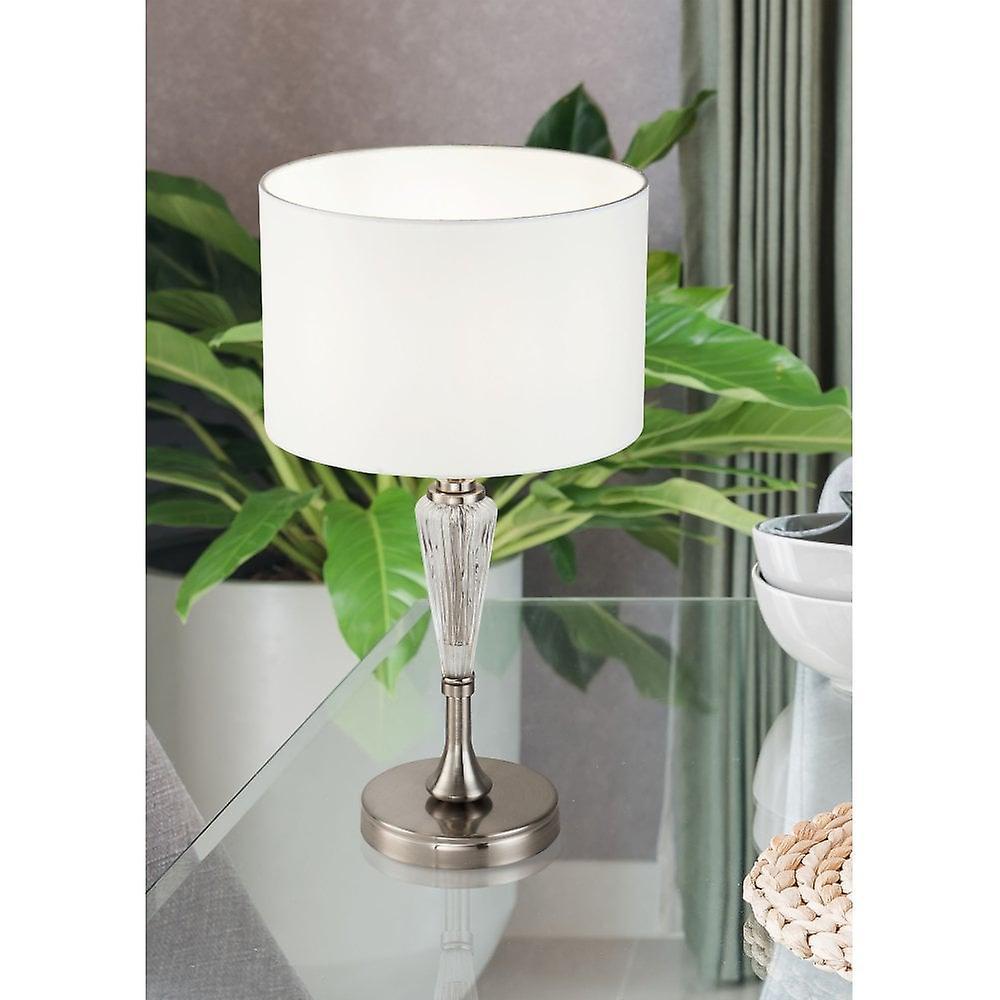Maytoni Lighting Alicante Nickel Table Lamp 1 X 40W