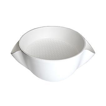 Skål/colk kombinasjon-hvit, L