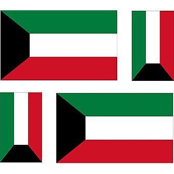 4 x Aufkleber Aufkleber Auto Motorrad Flagge Kuwait