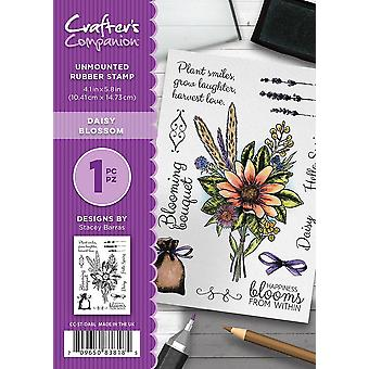 Crafter's Companion A6 Rubber Stamp - Daisy Blossom