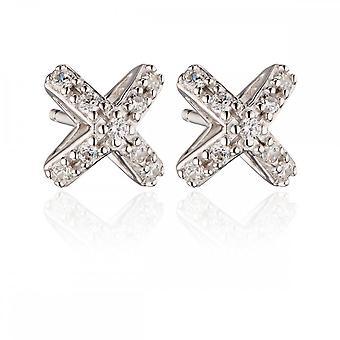 Fiorelli Silver Zirconia Set 3D Cross Studs Earrings E5452C