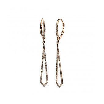 Diamond earrings earrings - 14K 585/- red gold - 0.3 ct.
