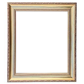 50x60 cm tai 20x24 tuumaa, puinen runko kultaa