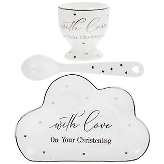 Lesser and Pavey Mad Dots Christening Dining Gift Set