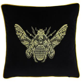 Riva Home Cerana Bee Design Feather Filled Cushion