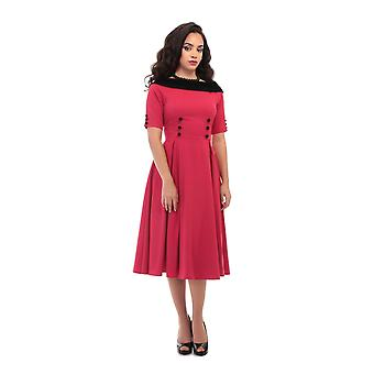 Collectif Vintage Women's Carrera Swing Dress
