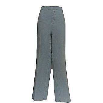 Isaac Mizrahi Live! Women's Plus Jeans 24/7 Denim Straight Blue A297721
