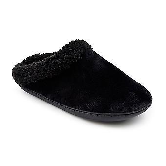 SlumberzzZ Womens mémoire mousse molleton doublé chaussons Mule