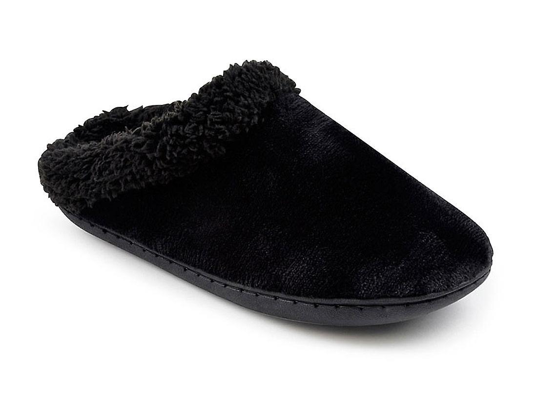 SlumberzzZ Womens Memory Foam Fleece Lined Mule Slippers w1Jvi