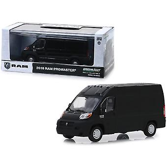 Dodge Ram ProMaster 2500 Cargo Van High Roof Brilliant Black 1/43 Diecast Model Car par Greenlight