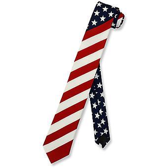 """Amerikanische Flagge Herren skinny Neck Tie USA patriotische 2,5"""" schmale dünne Necktie"""