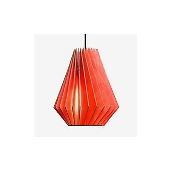 Iumi Hektor L Cone Shaped Birch Plywood Pendant - Red
