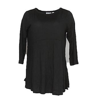 Joan Rivers Classics Collection Women's Top Empire Waist Black A309571