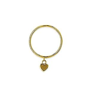 14k Yellow Gold Dangle Heart Wire Ring Jewelry Gifts for Women - Ring Size: 6 to 8