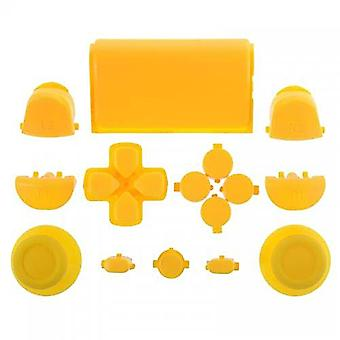 Full button set for ps4 sony controller mod kit 1st gen triggers, thumbsticks, d-pad replacement - yellow | zedlabz