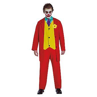 Mens Mr Smile The Joker Fancy Dress Kostuum