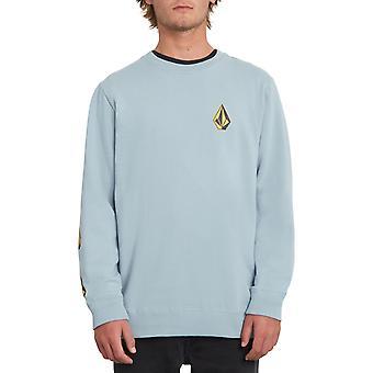 Volcom Deadly Stones Crew Sweatshirt in Cool Blue
