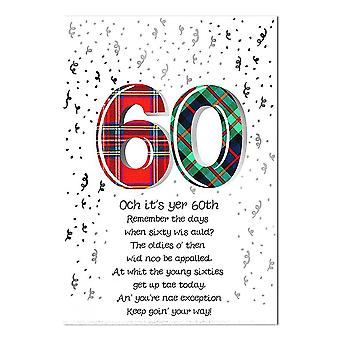 Embroidered Originals Och Its Yer 60th Poem Birthday Card